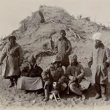 Sir Aurel Stein and his men, somewhere near Lop Nor